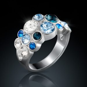 sieradenfotografie luxe high-end donker spiegeling zilver edelstenen